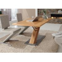 China MDF Melamine Modern Dining Table Furniture Eco - Friendly With Color Option wholesale