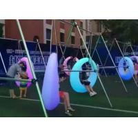 China Luxury Reclining Colorful LED Swing Chair Outdoor For School / Private Courtyard wholesale