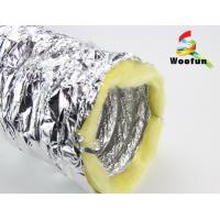 China Silver Aluminium HVAC Duct Insulation Wrap , Fire Retardant Insulated Exhaust Duct wholesale