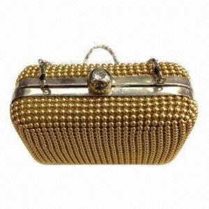 China Metal Mesh Net Evening Bag for Women, Aluminum Handbag, Handicraft Beaded Bag wholesale