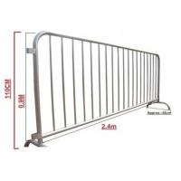 China Classic Galvanized Steel Barricade / Metal Crowd Control Barriers wholesale