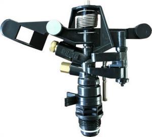 China Watering Rotate Orbit Plastic Impact Sprinkler 3/4'' Black Dubble Nozzle wholesale