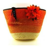 China summer fashion flower women handbag color stripes straw shoulder bag beach handbags new wholesale