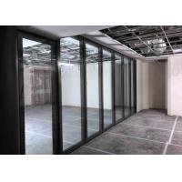 China Top Hung Movable Glass Wall With Top&bottom Retractable Seal wholesale