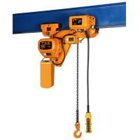 China F Grade Low Headroom Trolley Hoist With Remote Control Construction Workshop Usage on sale