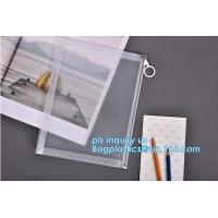 China Custom transparent pp slider bag with air hole, writable zip lock bags with white panel, slider bags with zipper lock wholesale