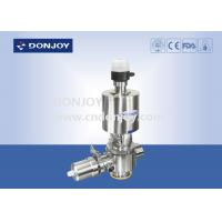 China 1'' - 4'' Pneumatic Aseptic Reversing Seat Valve with sideway control valve 316L wholesale