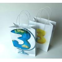 China Printed Logo Recycled Paper Shopping Bags , Small Kraft Paper Grocery Bags For Clothes / Garment wholesale