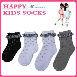 Custom children socks,knitting kids socks, lace cotton girl socks