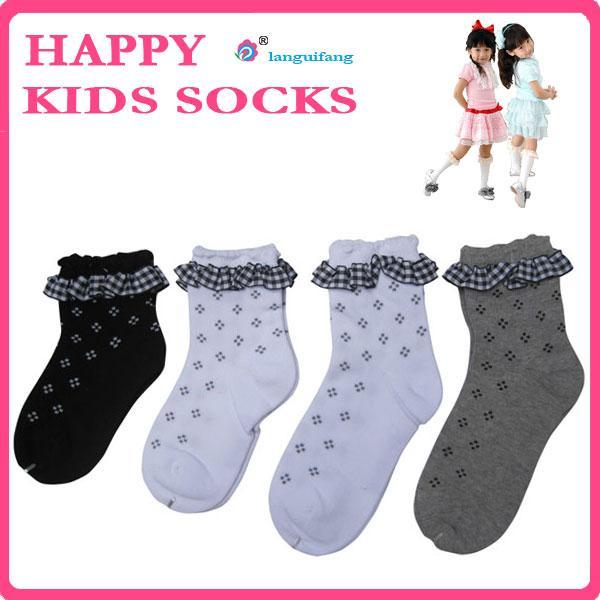 Quality Custom children socks,knitting kids socks, lace cotton girl socks for sale