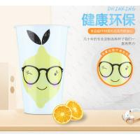 China Disposable Transparent Plastic Drinking Cups Custom Print Logo FDA Certification on sale
