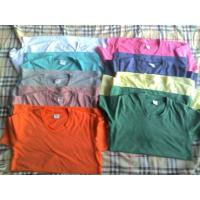 China 65,500 piece cheap price women's Solid color Tees shirt 1 style 11 colors full size stock wholesale