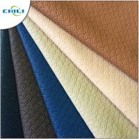 China Bag Making Quilted Leather Material , Faux Leather Sheets Woven Textured wholesale