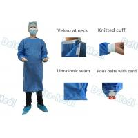 China SMMS Disposable Surgical Gown , Fluid Blood Impermeable With Hand Towels For Surgery wholesale