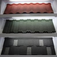 China Colorful Anti - Rainstorm Stone Coated Step Tiles Roofing Sheet CE / SONCAP on sale