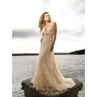 China V Neck Wedding Gown wholesale