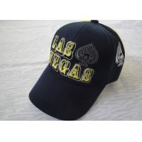 Buy cheap Unique College Mens Baseball Caps / Hats , Polyester / Acrylic Caps Hats from wholesalers