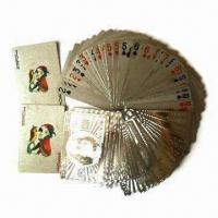 China Silver Foil Playing Cards with Hot-stamping Finish, OEM Orders are Accepted wholesale