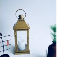 Buy cheap Wholesale glass storm candle lantern moroccan glass antique brass decoration from wholesalers