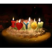 Quality Love Letter Shaped Candles For Valentine's Day , Colorful Letter Birthday Candles for sale