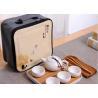 China 8Pcs Travel Ceramic Teapot Set , Ceramic Cup Set With Travle Bag Packing wholesale