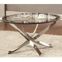 China Small Adjustable Height Glass Top High Table Modern Chrome Tube For Home wholesale