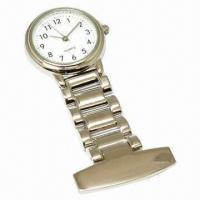 China Fob Nurse Hang Wristwatch with Alloy Case and Strap, Environmental Protection and Nickel Free wholesale