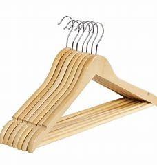 China 15 Inch Suit Solid Wood Hangers , Metal Mens Wooden Pants Hangers wholesale