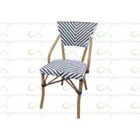 China Outdoor Dining Chairs Restaurant Chair Faux Bamboo Black and White Accents wholesale