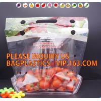 China cherry tomato bags / laminated dry fruit packaging bag, Fruit Vegetable Packaging Bag, fruit protection bag with vent ho wholesale