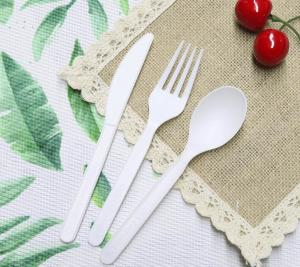 China CPLA Disposable Paper Packaging Accessories Cutlery Sets 6.5-7 Inches 4-4.5gr wholesale