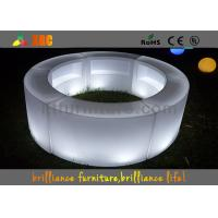Remote control LED round bar counter / LED wine display table Manufactures