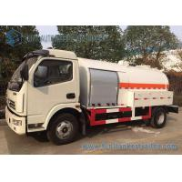 China Mini Liquid Tank Trailers With LPG Dispenser / Cooking Gas Dispense 5 Speed Truck on sale
