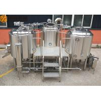 Buy cheap Stainless Steel Beer Making System 500L Capacity Brewhouse Steam Heating from wholesalers