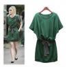 China lady dress for fashion cotton short sleeve  wholesale