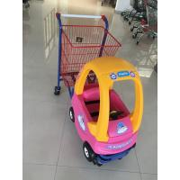 China Metal Kids Shopping Carts , Kids Shopping Trolley Travelator Casters CE / GS / ROSH wholesale