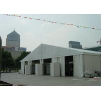 China 18m Wide Clear Span Aluminum Tent Frame , White Event Tent With Air Condition System on sale
