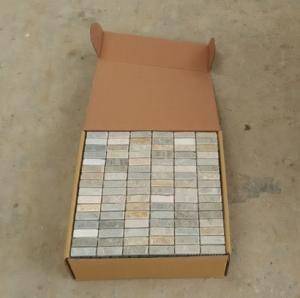 China 30.5*30.5cm*1cm mosaic slate stone floor tiles wholesale