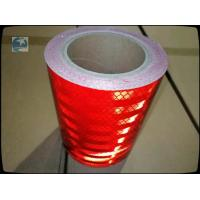 China UV Red High Intensity Prismatic Reflective Sheeting For Traffic Signs Barricade 0.35mm Thick wholesale