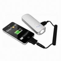 China Portable Power Bank for iPhone, 4,400 to 5,200mAh, Sony's PSP, MP3/MP4, Mobile Phone wholesale