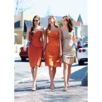 China Draped With Flower Knee-Length Sweetheart Bridesmaid Dresses (BD10010) wholesale
