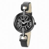 China Charm Heart Dial Lady Watch, PU Leather Strap and Alloy Case, Modern Style, Japan Movement wholesale