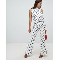 China OEM high quality girls high neck jumpsuit in polka dot wholesale