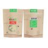 China Food Grade Brown Kraft Paper Ziplock Bag Custom Laminated For Snack Logo Printing wholesale