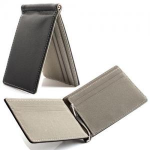 China Black Credit Card Holder Wallet 11 * 7.5 Cm Leather Credit Card Holder wholesale