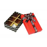 China Rectangle Chocolate Recycled Cardboard Gift Boxes of Trays Insert wholesale
