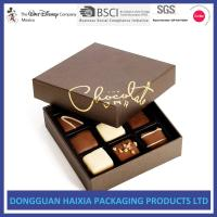 China Brown Printing Cardboard Gift Boxes Glossy Varnishing Finish For Chocolates on sale
