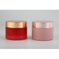 China Glass Cosmetic Jar With Lids / Cosmetic Pots Cream Bottles / Cream Jar / Glass Cosmetic Packaging on sale