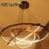 China LED Pendant Light Modern Suspension Ring Light Contemporary Rings Rounds Pendant Lighting wholesale
