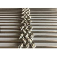 China Stainless Steel Architectural Wire Mesh Facade, Decorative Cable Rope Wire Mesh wholesale